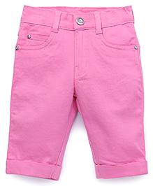 Babyhug Fold Up Hem Capri Pants - Pink