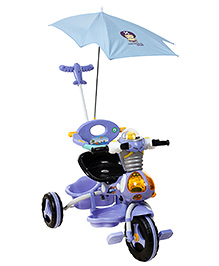 Fab N Funky Robot Design Baby Tricycle With Canopy And Push Handle