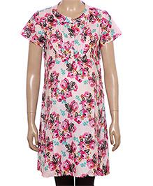Uzazi Half Sleeves Floral Print Maternity Tunic - Pink