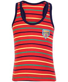 Bodycare Sleeveless Racer Back Vest Stripes Print