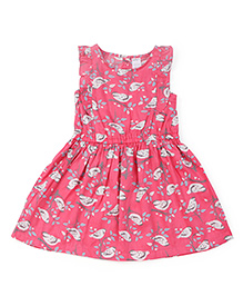Carter's Sleeveless Dress Bird Print - Pink