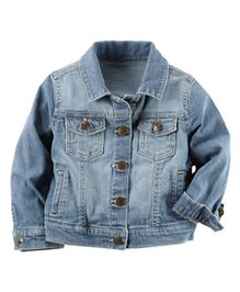 Carters Full Sleeves Collection Denim Jacket - Blue