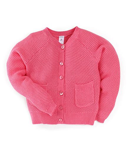 Carter's Full Sleeve Cardigan - Pink