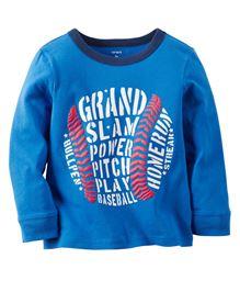 Carter's Full Sleeves Grand Slam  Printed T-Shirt - Blue