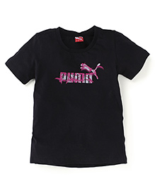 Puma Half Sleeves T-Shirt - Black