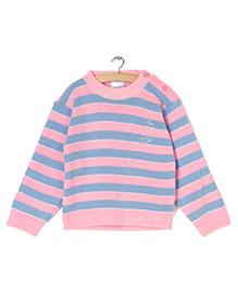 Zonko Style Striped Sweater - Pink