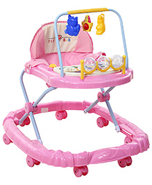 Musical Walker With Hanging Toys - Pink