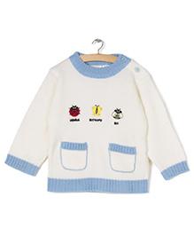 Zonko Style Knitted Sweater - White