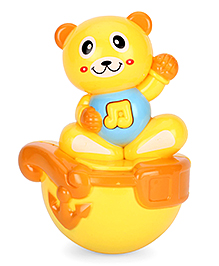 Playmate Puzzle Cat Roly Poly Toy - Yellow