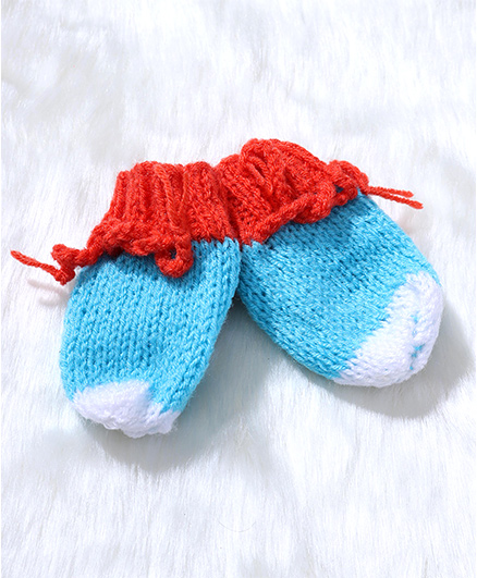 The Original Knit Woolen Mittens - Blue
