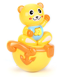 Playmate Teddy Puzzle Tumbler Roly Poly Toy - Yellow
