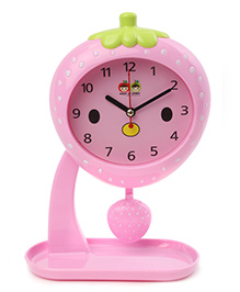 Strawberry Shaped Alarm Clock With Stand - Pink