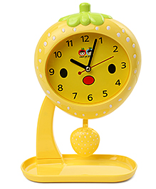 Strawberry Shaped Alarm Clock With Stand - Yellow