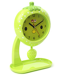 Strawberry Shaped Alarm Clock With Stand - Green