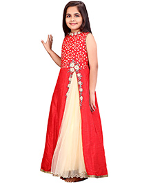 Betty By Tiny Kingdom Ethnic Evening Gown  - Red