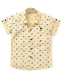 Jash Kids Half Sleeves Shirt Horses Print - Yellow