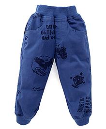 Jash Kids Full Length Printed Track Pant - Blue