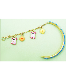 Doodles By Purvi Dazzling 18 Kt Gold Bracelet - Blue And Gold