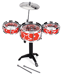 Playmate Flash Music Jazz Drum Set - Orange