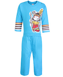 Zero Full Sleeves T-Shirt and Legging Set with Tribal Boy Print