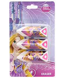 Disney Princess Printed  Erasers Set - Multicolour