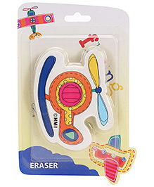 Disney Helicopter Shape Disney Soft Eraser - Multi Color