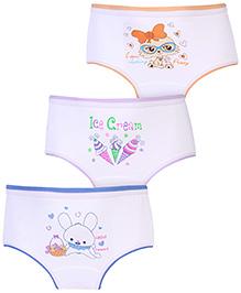 Bodycare Multi Image Print Panties White - Set of 3