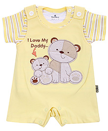 Chilld World Dungaree Style Romper With T-Shirt - Lemon Yellow