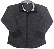 Jonez Full Sleeves Party Wear Shirt - Black