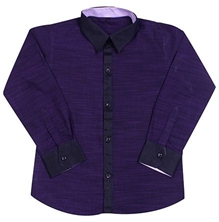 Jonez Full Sleeves Party Wear Shirt - Purple
