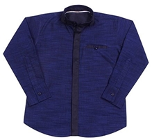 Jonez Full Sleeves Party Wear Shirt - Blue