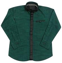 Jonez Full Sleeves Party Wear Shirt - Dark Green