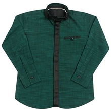 Jonez Full Sleeves Party Wear Shirt - Dark Green
