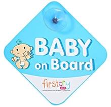 Fab N Funky - Baby on Board Blue