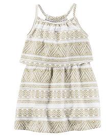 Carter's Printed Singlet Dress - Off White
