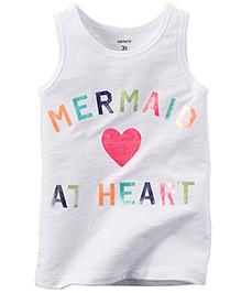 Carter's Sleeveless T-Shirt Mermaid At Heart Print - White