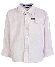 Gini and Jony Full Sleeves Shirt - Off White