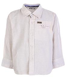 Gini and Jony Full Sleeves Shirt - Off White