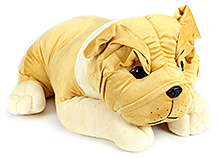 Dimpy Stuff Yellow Bull Dog Lying Soft Toy