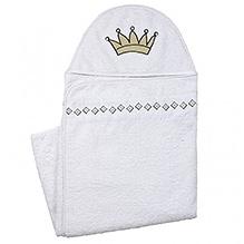 Kushies Baby Hooded Towel - White