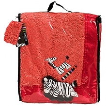 Kushies Baby Zebra Blanket - Red