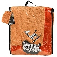 Kushies Baby Zebra Blanket - Orange