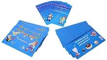 Fafa n Juno Birthday Invitation Blue - Set of 10