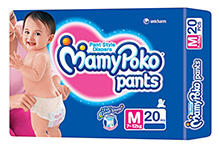 Mamy Poko Pants Pant Style Diapers Medium - 20 Pieces