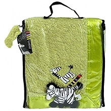 Kushies Baby Zebra Blanket - Lime