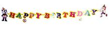 Fafa n Juno Birthday Banner - 17 pieces