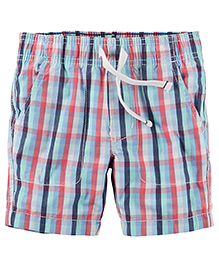 Carter's Pull-On Poplin Shorts - Multicolour