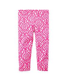 Carter's Neon Printed Capri Leggings - Pink