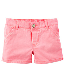 Carter's Neon Twill Shorts - Pink