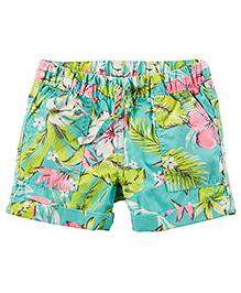 Carter's Pull-On Printed Poplin Shorts - Multicolor